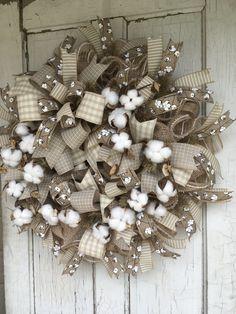 Cotton Burlap Wreath Informations About DIY Christmas Wreaths for Front Door – Burlap Pin You can ea Burlap Crafts, Wreath Crafts, Diy Wreath, Wreath Burlap, Cotton Wreath, Burlap Swag, Christmas Wreaths For Front Door, Holiday Wreaths, Burlap Wreaths For Front Door