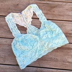 Blue Ombré Free People Bralette Excellent condition. Worn once. No stains or rips. Ships immediately. Free People Intimates & Sleepwear Bras