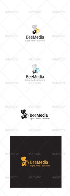 Bee Media  Logo Design Template Vector #logotype Download it here: http://graphicriver.net/item/bee-media-logo/3687024?s_rank=337?ref=nexion