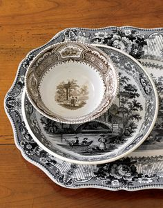 Transferware from Dennis & Dad Antiques