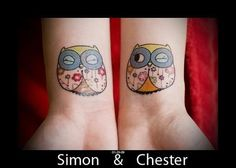 owls - wrist TATTOOS