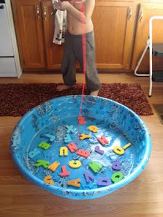 Letter recognition/sight word fishing game. Instructions and pics here on my blog.