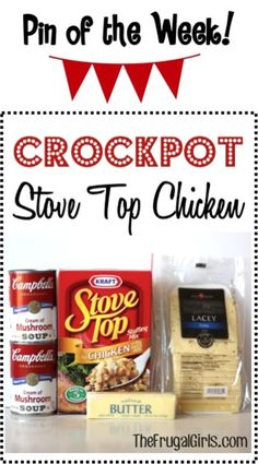 Crockpot Stove Top Chicken Recipe! ~ from TheFrugalGirls.com ~ you're going to love this yummy comfort-food Slow Cooker dinner! #slowcooker #recipes #thefrugalgirls