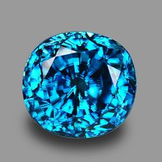 This exquisitely cut blue precious gemstone displays the amazing beauty of the mineral corundum. Minerals And Gemstones, Crystals Minerals, Rocks And Minerals, Stones And Crystals, Blue Zircon, Sapphire Gemstone, Rocks And Gems, Gems Jewelry, Colored Diamonds
