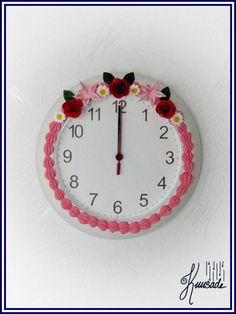 Flowers- Wall clock
