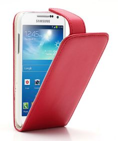 Samsung Galaxy S4 Mini Vertical Flip Case Rood