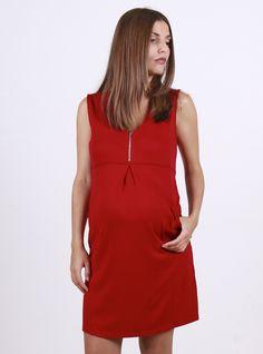 e42616594294e Red sleeveless nursing dress Maternity Nursing Dress, Maternity Dresses  Summer, Summer Maternity Fashion,