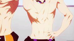 Makoto Tachibana from Free! has hot anime abs!