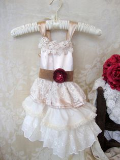 ea3eef955d3 Items similar to Ivory Lace Flower Girl Dress