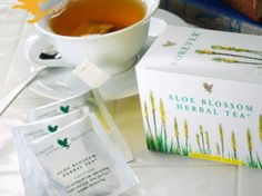 Aloe Blossom Herbal Tea is a natural blend of leaves, herbs and spices, specially prepared to provide an outstanding flavor and a rich aroma. Aloe Vera Gel, Gel Aloe, Forever Living Aloe Vera, Forever Aloe, Aloe Blossom Herbal Tea, Aloe Drink, Clean9, How To Relieve Headaches, Natural Kitchen