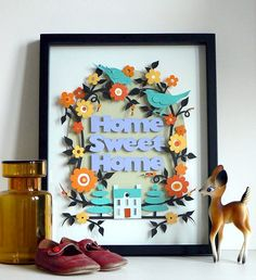 Home Sweet Home, paper art made by Helen Musselwhite
