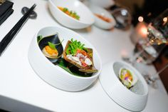 Beef Tataki and Pan Seared Hakkaido Scallop, on the Miku Toronto NYE Kaiseki Dinner Menu. (Photo: Steven Branco for View the VIBE) Dinner For 2, Dinner Menu, Beef Tataki, Nye, Sushi, Toronto, Canning, Drinks, Ethnic Recipes