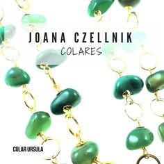 GREEN AGATE NECKLACE NATURAL STONE BY JOANA CZELLNIK