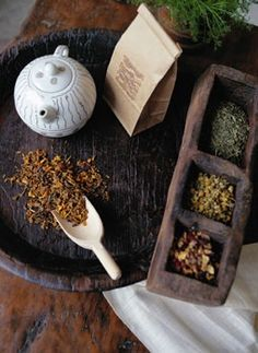 Toss a herbal tea bag in a hot shower for easy aroma therapy