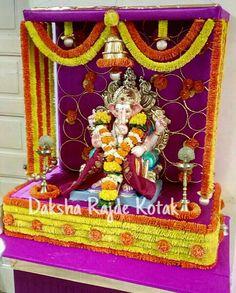 Home Decorators Collection Rugs Mandir Decoration, Diwali Decoration Items, Ganapati Decoration, Flower Decoration For Ganpati, Ganpati Decoration Design, Flower Decorations, Ganesh Pooja, Ganpati Bappa Wallpapers, Ganesh Chaturthi Decoration