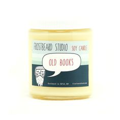 Old Books  Soy Candle  Book Lovers' Scented Soy by Frostbeard