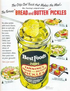 Best Foods Fanning's bread and Butter Pickles
