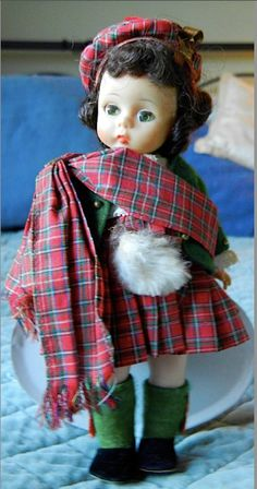 Tartan Plaid....Plaid dressed doll, Madame Alexander Dolls of the World - Scotland