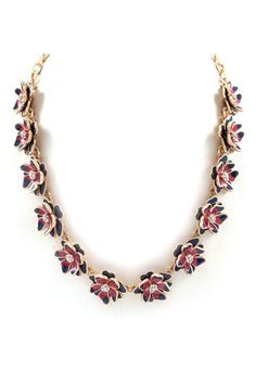 Peony Necklace in Midnight Love