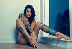 """leohbravo:   """"Preview from a recent shoot with... - Tattoo'd ladies&metal"""