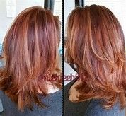 Multi dementional auburn red with honey highlights hair by image result for auburn hair with copper highlights pmusecretfo Images