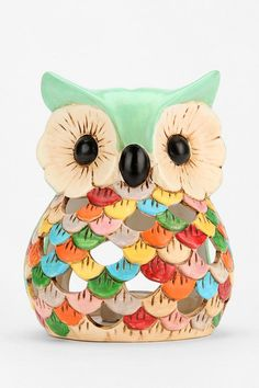 Ceramic Snow Owl Tea Candle Holder #urbanoutfitters