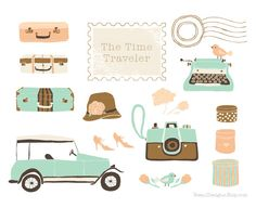 Vintage Wedding Photography Camera Car Automobile Suitcases Typewriter Stamp Clipart for personal and commercial use - by Reani on Etsy by ReaniDesigns on Etsy https://www.etsy.com/listing/156751117/vintage-wedding-photography-camera-car