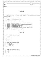 atividades de matemática 6º ano
