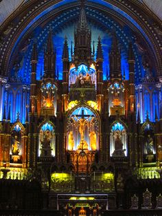 Notre-Dame Basilica of Montreal Old Town, Montreal http://www.basiliquenotredame.ca/en