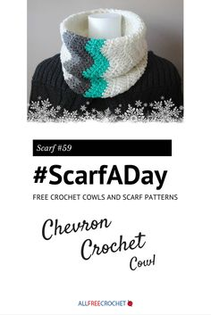 If you know how to crochet a chevron, this is the cowl for you! It's also a great way to practice this stitch without having to make a full afghan. Love this crochet cowl pattern!