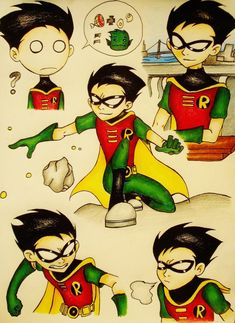 robin from teen  titans NOT TEEN TITANS GO!!! totally diff things!!! though same characters O_O