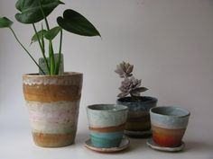 Shino Takeda 's ceramics are my perfect storm of color and shape. I love their speckled textures too. Imagine an entire kitchen filled with...