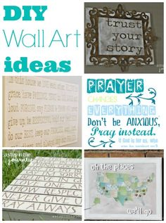 Great ideas on How to make DIY Wall Art