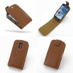 PDair Leather Case for Samsung Galaxy S Duos GT-S7562 - Flip Top Type (Brown)