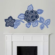 Can't get enough of the block print look! Removable wall art decals from Martha Stewart are perfect for trending décor ideas.