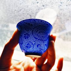 This beautiful teacup enhances my tea experience and brightens up my day. Fine thin porcelain lit up under the sun emphasises the detailed delicate hand etched patterns. I feel the elegant curve at the top edge of the cup every time I take a sip. Exquisite! . Only a few left. Link in bio to shop. #chinesetea #teacup#gongfutea #tastingcup #jingdezhen #porcelainteacup #gongfucha #zhentea #teabrewing #teatasting #gaiwan #teapot #teamoment #morningtea #tealover #tealovers #teaaddict #teaplease… Chinese Tea, Brewing Tea, My Tea, Teacup, Tea Pots, Porcelain, Delicate, Sun, Patterns