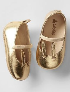darling bunny gold mary jane flats
