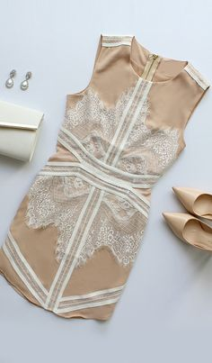 Most Refined Manner Ivory and Beige Lace Dress Perfect dress, not to fussy, just right. Fashion Mode, Look Fashion, Fashion Outfits, Cute Dresses, Beautiful Dresses, Cute Outfits, Lulu's Dresses, Beige Lace Dresses, Looks Style