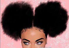~ ~ (For more pins like this) Black Love Art, Pretty Black Girls, Black Girl Art, My Black Is Beautiful, Black Girls Rock, Art Girl, Natural Hair Art, Natural Hair Styles, Drawings Of Black Girls