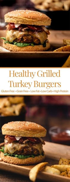 These healthy, grilled turkey burgers are easy to make and tasty too! It only takes 10 minutes (plus grill time) to enjoy these low-cal burgers! Eat up! Homemade Turkey Burgers, Ground Turkey Burgers, Best Turkey Burgers, Grilled Turkey Burgers, Greek Turkey Burgers, Turkey Burger Recipes, Low Calorie Turkey Burger Recipe, Healthy Grilling, Turkish Recipes