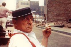 Buster Keaton on the set of Samuel Beckett's Film, NYC, 1964.