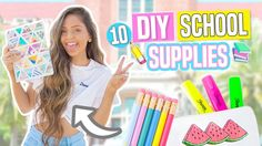 10 DIY BACK TO SCHOOL SUPPLIES! Notebooks, Pencil Cases & Decor 2017!