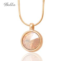 Women Fashion Necklaces & pendant Jewelry Classic Necklace Pendule Real Gold Plated Austrian Crystal Pendant Pingente(X0217) //Price: $11.00 & FREE Shipping // Get it here ---> http://bestofnecklace.com/women-fashion-necklaces-pendant-jewelry-classic-necklace-pendule-real-gold-plated-austrian-crystal-pendant-pingentex0217/    #best_of_Necklace