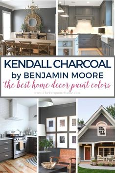 From the interior to the exterior, check out all these lovely and inspiring ideas that use Kendall Charcoal paint. It's dark and perfectly neutral.