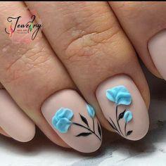 3d Nail Designs, Nail Art Designs Videos, Flower Nail Designs, Flower Nail Art, Acrylic Nail Designs, 3d Acrylic Nails, Glitter Nail Art, Gold Nails, Stylish Nails