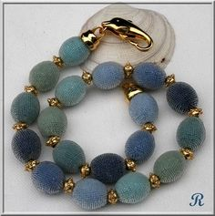 Another elegant bead crochet necklace from Ricki.
