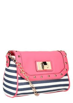 Striped pink delight!!! Bebe'!!! Love, love, love pink and striped navy and white!!! A great color combination!!!