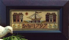 Carriage House Samplings  1797 Ship Sampler
