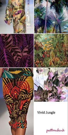 2013 Spring/Summer trends. Patterns. Vivid Jungle.