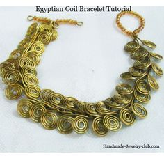 Jewelry Making Tutorials  Learn How To Make Jewelry - Beading & Wire Jewelry Classes : How to make Egyptian Coil Bracelet (Free tutorial)